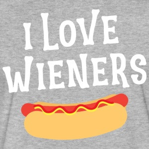 Wieners I Love Wieners Funny Food Lover T Shirt - Fitted Cotton/Poly T-Shirt by Next Level