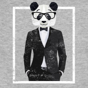Cool Graphic Clever Smart Panda Bear In A Suit - Fitted Cotton/Poly T-Shirt by Next Level
