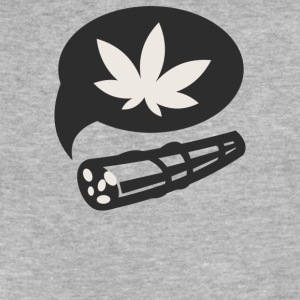 Cannabis - Fitted Cotton/Poly T-Shirt by Next Level
