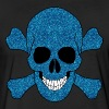Blue Glitter Skull - Fitted Cotton/Poly T-Shirt by Next Level