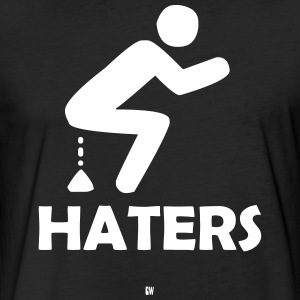 Shitting On Haters - Fitted Cotton/Poly T-Shirt by Next Level
