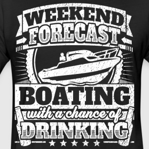 Weekend Forecast Boating Drinking Tee - Fitted Cotton/Poly T-Shirt by Next Level