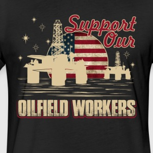 OILFIELD WORKERS SHIRT - Fitted Cotton/Poly T-Shirt by Next Level