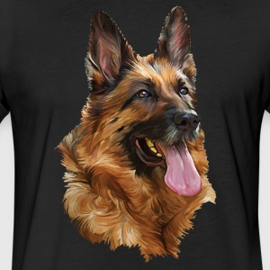 German Shepherd Shirt - Fitted Cotton/Poly T-Shirt by Next Level