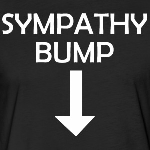 Sympathy Bump Happy Fathers Day - Fitted Cotton/Poly T-Shirt by Next Level