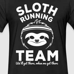 Sloth Running Team - Fitted Cotton/Poly T-Shirt by Next Level