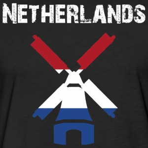Nation-Design Netherlands Windmill - Fitted Cotton/Poly T-Shirt by Next Level
