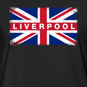 Liver Pool Shirt Vintage United Kingdom Flag T-Shi - Fitted Cotton/Poly T-Shirt by Next Level