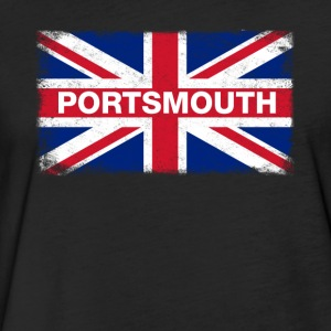 Portsmouth Shirt Vintage United Kingdom Flag T-Shi - Fitted Cotton/Poly T-Shirt by Next Level
