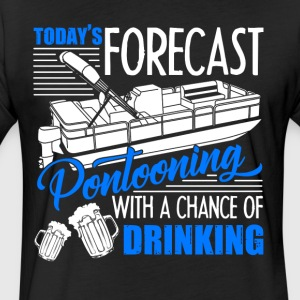 Today Forecast Pontooning Shirts - Fitted Cotton/Poly T-Shirt by Next Level