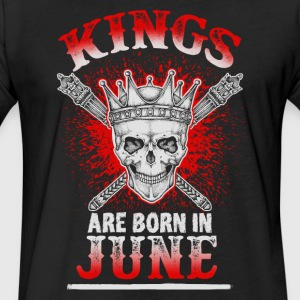 June - Birthday - Kings - EN - Fitted Cotton/Poly T-Shirt by Next Level