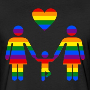 Rainbow Family lesbian family from Bent Sentiments - Fitted Cotton/Poly T-Shirt by Next Level