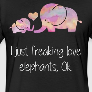 I just freaking love Elephants - Fitted Cotton/Poly T-Shirt by Next Level