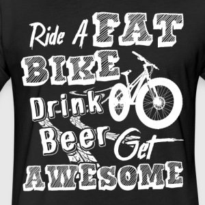 Ride A Fat Bike Shirt - Fitted Cotton/Poly T-Shirt by Next Level