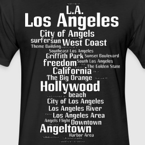 Los Angeles (L.A. Angeltown) - Fitted Cotton/Poly T-Shirt by Next Level