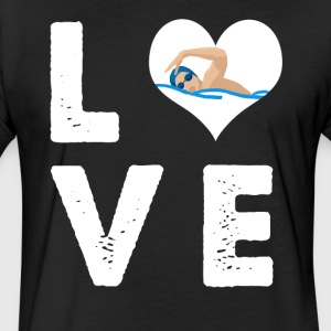 Love swimming - Fitted Cotton/Poly T-Shirt by Next Level