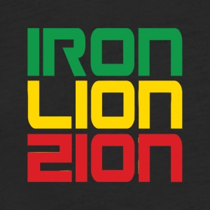 Iron Lion Zion - Fitted Cotton/Poly T-Shirt by Next Level