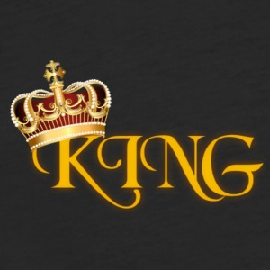 GOLD KING CROWN WITH YELLOW LETTERING - Fitted Cotton/Poly T-Shirt by Next Level