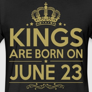 Kings are born on JUNE 23 - Fitted Cotton/Poly T-Shirt by Next Level