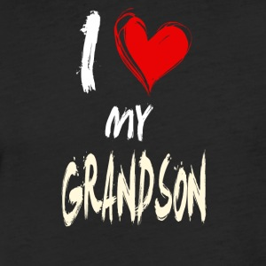 I love my GRANDSON - Fitted Cotton/Poly T-Shirt by Next Level