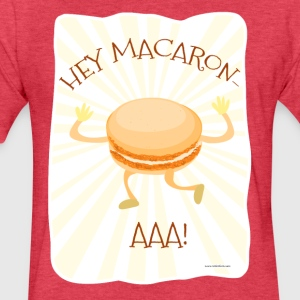 Hey Macaron Aaah! - Fitted Cotton/Poly T-Shirt by Next Level
