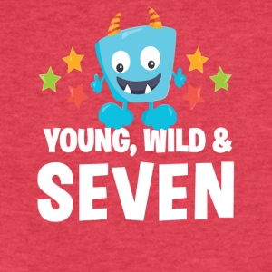Young wild and Seven - Fitted Cotton/Poly T-Shirt by Next Level