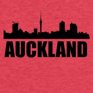 Auckland Skyline - Fitted Cotton/Poly T-Shirt by Next Level