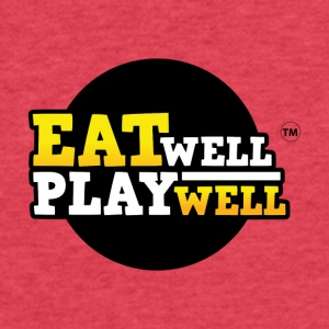 EAT WELL PLAY WELL - Fitted Cotton/Poly T-Shirt by Next Level