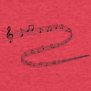 Musical Notes - Fitted Cotton/Poly T-Shirt by Next Level