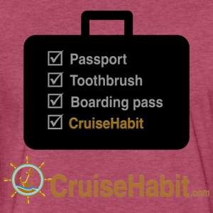 Cruise Check List - CruiseHabit - Fitted Cotton/Poly T-Shirt by Next Level