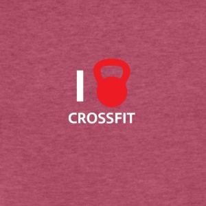 i love crossfit - Fitted Cotton/Poly T-Shirt by Next Level