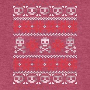 Christmas Skulls - Fitted Cotton/Poly T-Shirt by Next Level