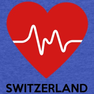 Heart Switzerland - Fitted Cotton/Poly T-Shirt by Next Level