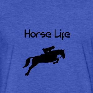 Horse Life - Fitted Cotton/Poly T-Shirt by Next Level