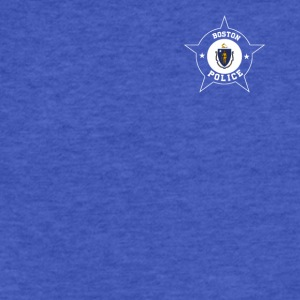 Boston Police T Shirt - Massachusetts flag - Fitted Cotton/Poly T-Shirt by Next Level
