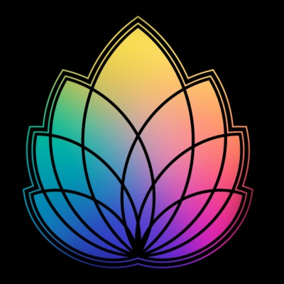 Colorful Abstract Yoga Geometry Blossom / Flower