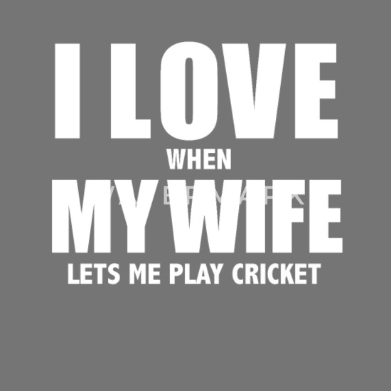Love my wife when she lets me play cricket whipped Computer