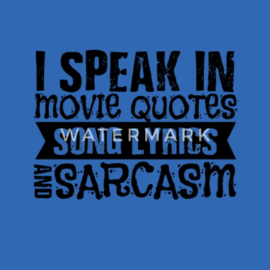 Movie quotes lyrics sarcasm movie fan gift Computer Backpack - royal blue