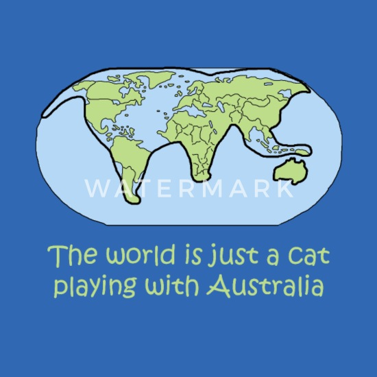 Australia Global Map.Cat World Map Global Australia Gift Shirt Computer Backpack