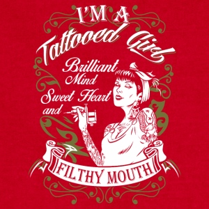 I'm a Tattoo girl brilliant Mind Sweet Heart - Sweatshirt Cinch Bag