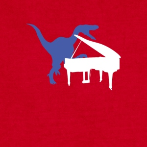 Velociraptor Playing Piano - Sweatshirt Cinch Bag