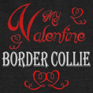 A romantic Valentine with my Border Collie - Sweatshirt Cinch Bag