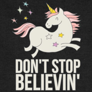 Unicorn Don't Stop Believin' Gift Shirt Limited - Sweatshirt Cinch Bag