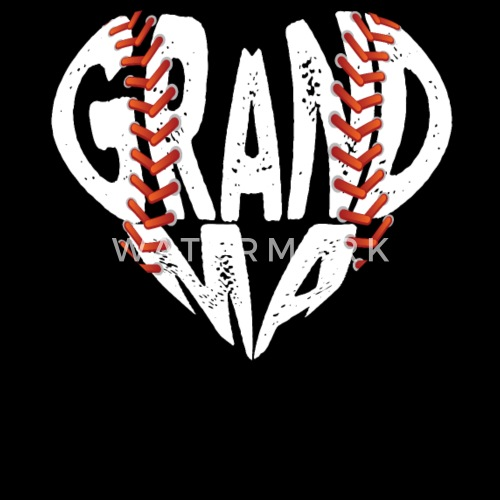 Baseball Grandma Heart Gift Shirt Birthday Tees By Mr