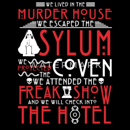 34521bccc5 American horror story - We lived in murder house Women s Vintage ...