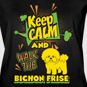 Keep Calm And Walk The Bichon Frise Shirt - Women's Vintage Sport T-Shirt
