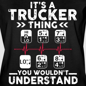 it's a trucker thing you wouldnt understand t-shir - Women's Vintage Sport T-Shirt