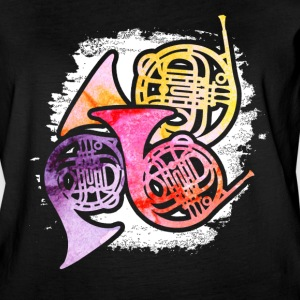COLORFUL FRENCH HORNS SHIRT - Women's Vintage Sport T-Shirt