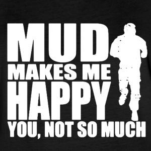 MUD MAKES ME HAPPY SHIRT - Women's Vintage Sport T-Shirt