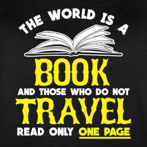 BOOKS & TRAVEL: THE WORLD IS A BOOK PRESENT - Women's Vintage Sport T-Shirt